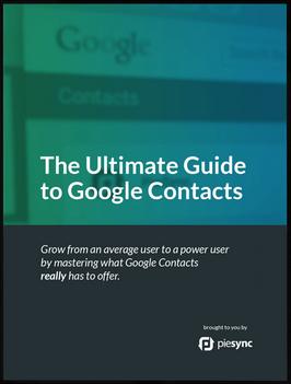 Google Contacts E-book